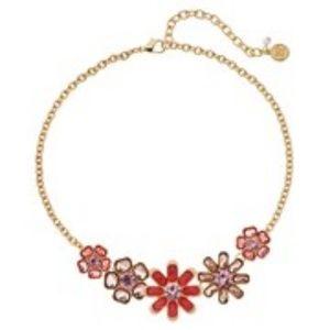 🆕Dana Buchman Peach Floral Statement Necklace